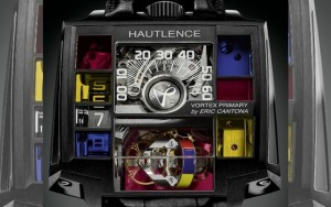 Lors du salon de la haute horlogerie de Genève Hautlence et Eric Cantona ont présenté le modèle Vortex Primary créé par Eric Cantona et les artisans horlogers hautlence.